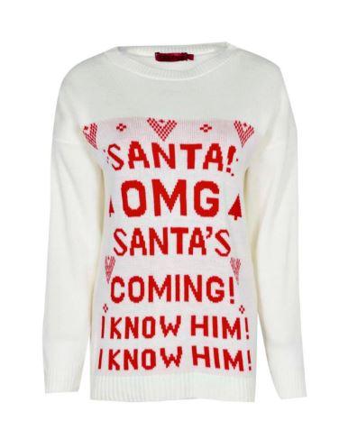 Boohoo Jumper Santa's Coming